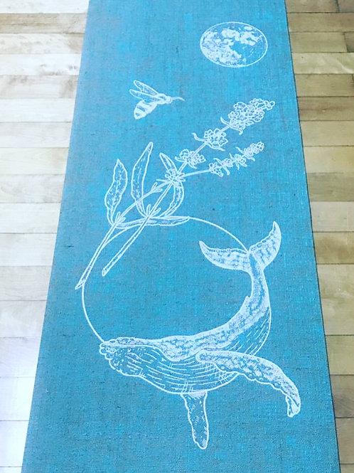 """Marissa Quinn x Divine Sun """"Whale Dreaming"""" eco yoga mat- Turquoise Ocean"""