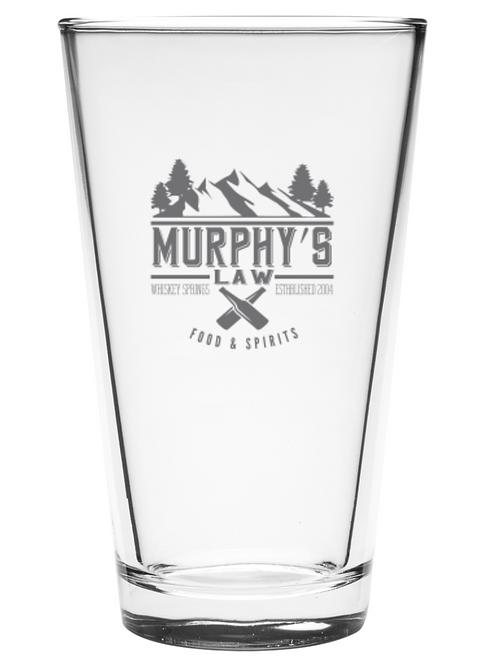 Murphy's Law Pint Glass