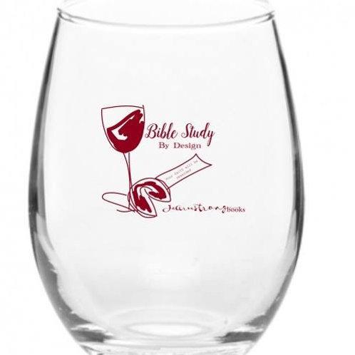 By Design Bible Study Wine Glass