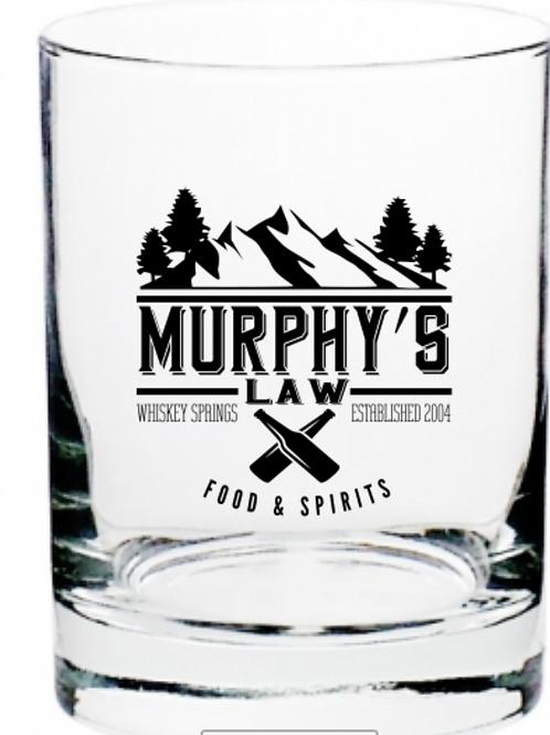 Murphy's Law Rocks Glass