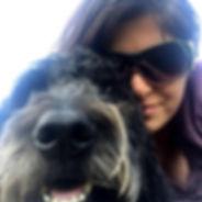 Sally Jenkins and dog