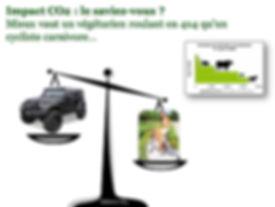Impact CO2 végétarien et voiture