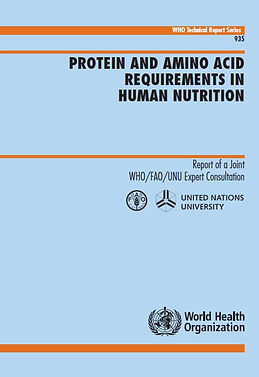 Protein and amino acid requirements in human nutrition WHO