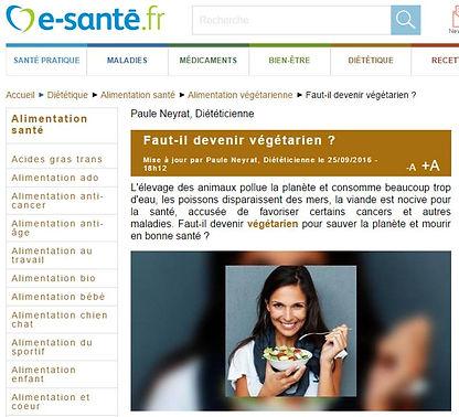 Faut-il devenir végétarien esanté.fr