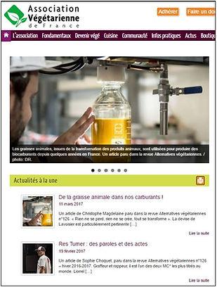 Site Association Végétarienne de France AVF