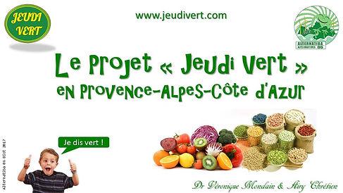 Le projet Jeudi Vert en PACA