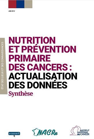 Nutrition et prévention primaire des cancers_NACRE