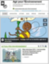 Site Agir pour l'environnement, association mobilisation citoyenne