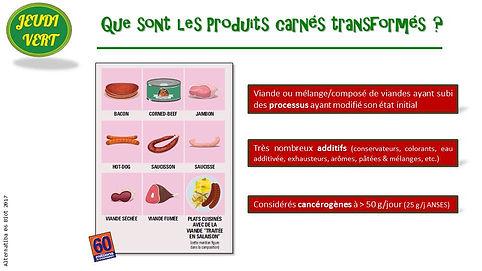 Jeudi Vert : produits carnés transformés