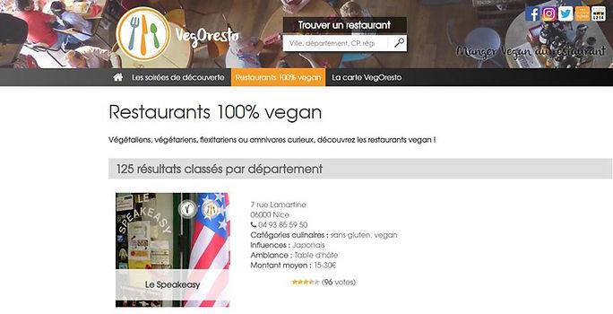 VegOresto restaurants vegan