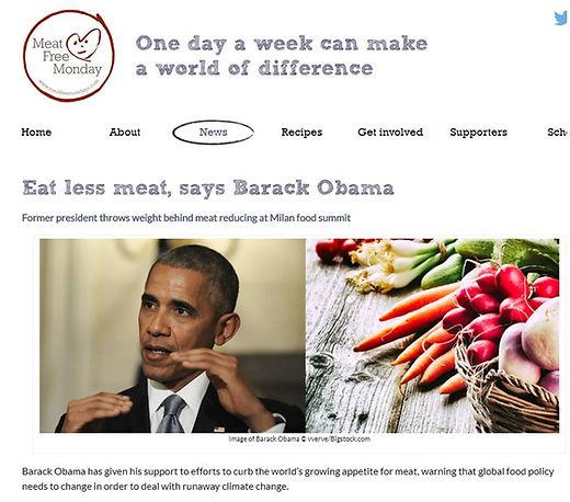 Eat less meat Barack Obama
