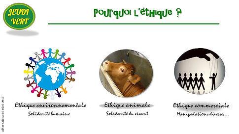 Ethique environnementale, animale et commerciale