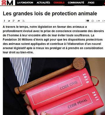 Grandes lois de protection animale