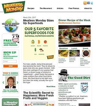Meatless Monday website