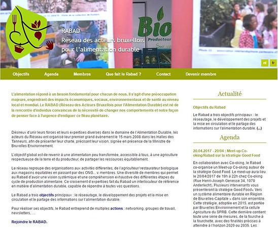 RABAD réseau des acteurs bruxellois pour l'alimentation durable