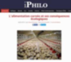 L'alimentation carnée et ses conséquences écologiques philo