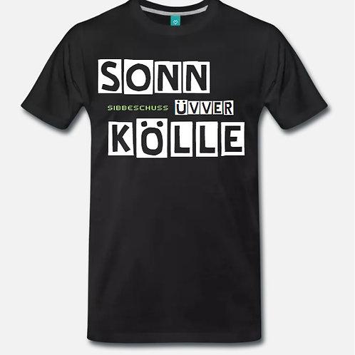 """T-Shirt """"Sonn üvver Kölle"""" in hoher Fruit of the Loom Qualität (Unisex)"""