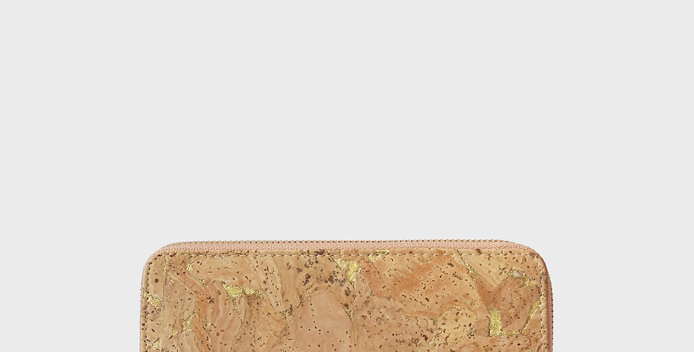 Cork Wristlet Zip Purse