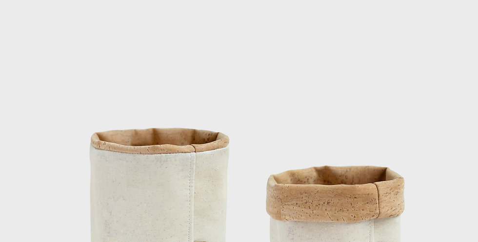 Two-Tone Cork Storage Basket