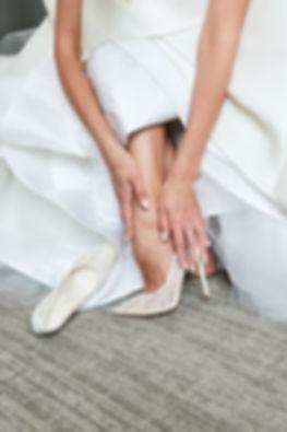 Wedding lace pointed toe pumps, camilla gabrieli