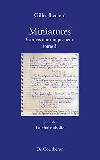 Miniatures - tome 3 - couverture devant