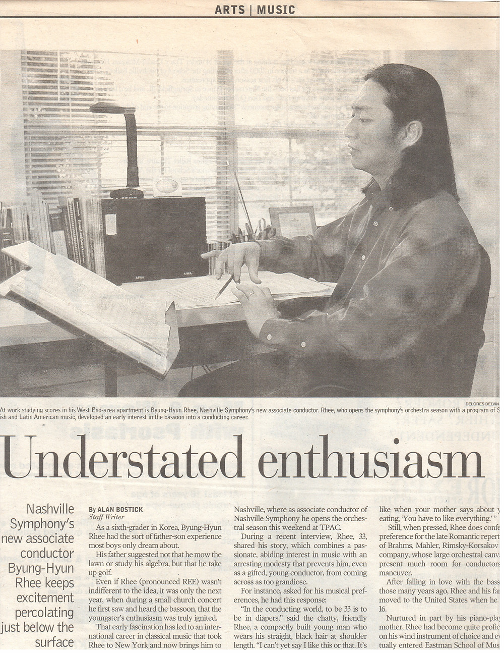 back in 2001, Nashville Symphony_interview with the Tennessean
