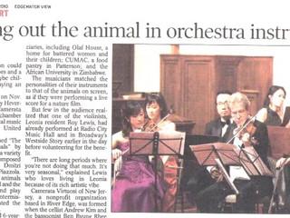 Bergen Record Article -  CVNJ Family Concert #1
