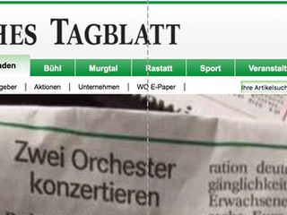 Badisches Tagblatt (German Newspaper) Article - CYO Tour Concert
