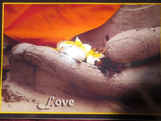 """LOVE"": BLANK POST CARD SS"