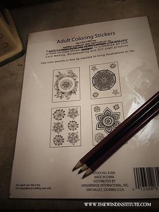 FLOWER MANDALA: Adult Coloring Stickers