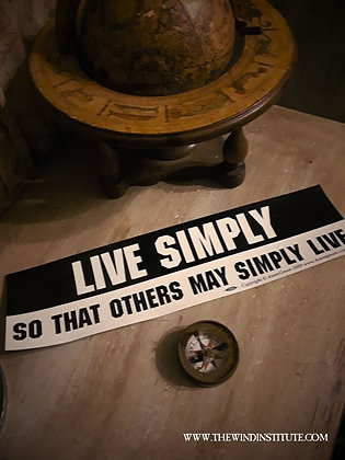 "LIVE SIMPLY Bumper Sticker 11 1/2"" x 3"""