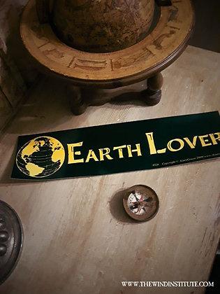 """EARTH LOVER Bumper Sticker 11 1/2"""" x 3"""""""