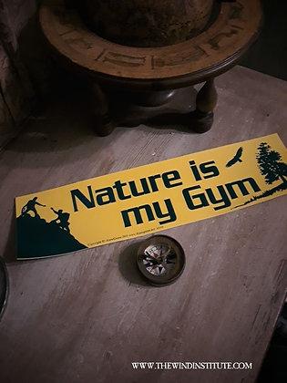 "NATURE GYM Bumper Sticker 11 1/2"" x 3"""