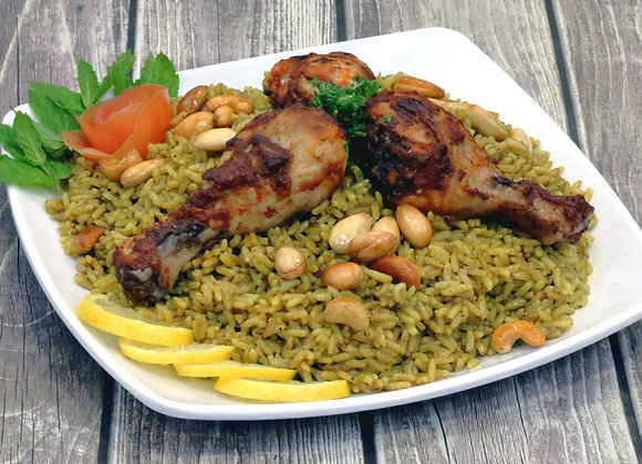 kabsa (rice  and chicken)