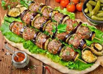 Kabab with eggplant