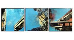 _Blue Skies_ (triptych), 24X24_ each, ac