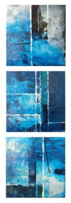 Untitled (triptych), 8X8_ each, acrylic