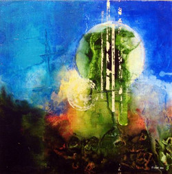 Untitled, 24X24_, acrylic on canvas, 201