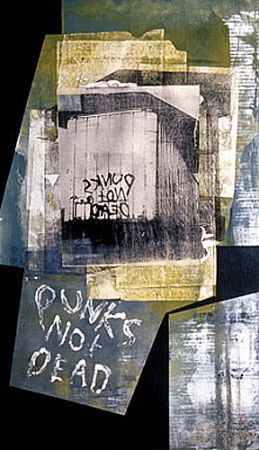 _Punks Not Dead_ 38X23_, monoprint on pa