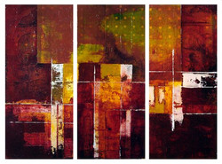 _Warming Up_ 18X8_ each, Monoprint and a