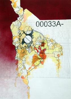 Jurisdiction, 28X20 inches, Spray paint,