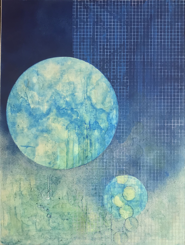 Orbital Resonance II, mixed media
