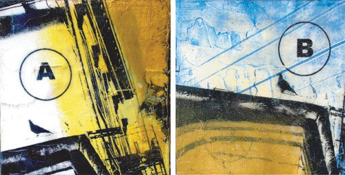 _AB_ (diptych), 8X8_ each, screen print