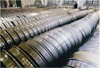 Rodas fundidas em aço