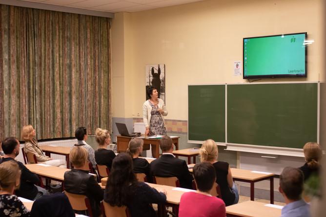 Info-avond voor de ouders van de leerlingen uit het 1ste jaar.