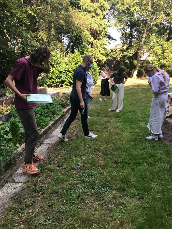 Practicum in de tuin