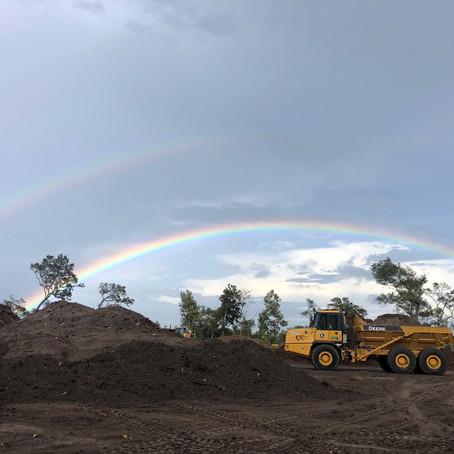 Somewhere over the double rainbow...