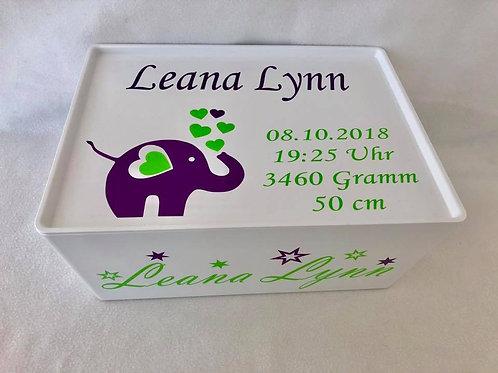 Elefant Box gefüllt