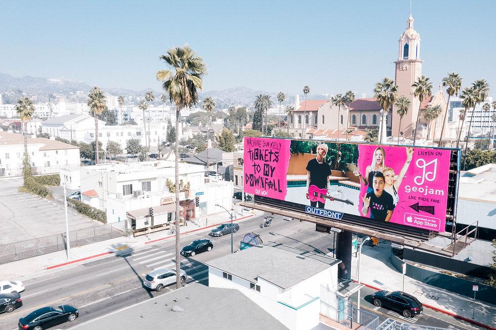 Machine Gun Kelly Geojam Billboard Sunset Blvd Hollywood