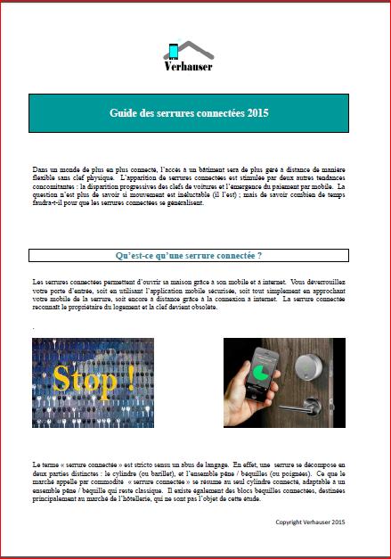 Guide des serrures connectées 2015